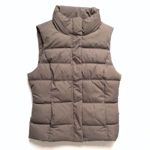 Brown Gap Puffer Vest Size Small